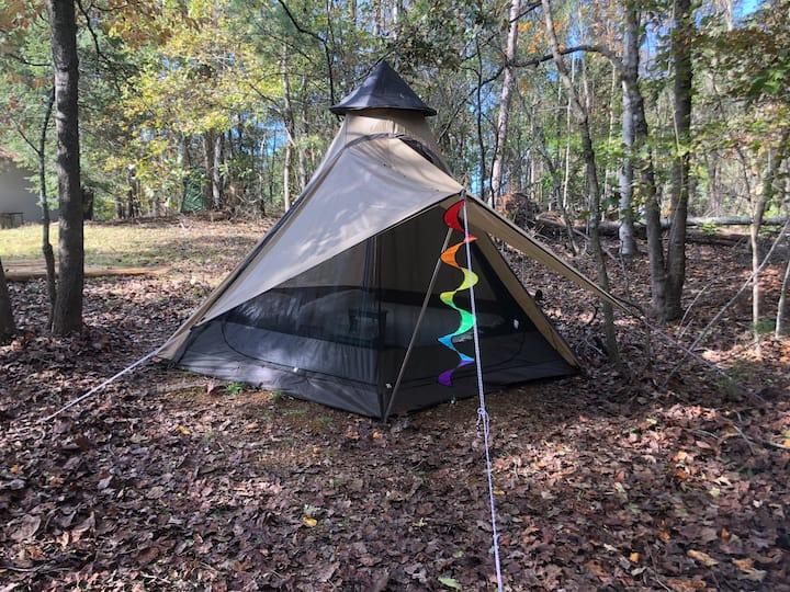 Sweet Muscadine-romantic tipi tent-walk to Lake
