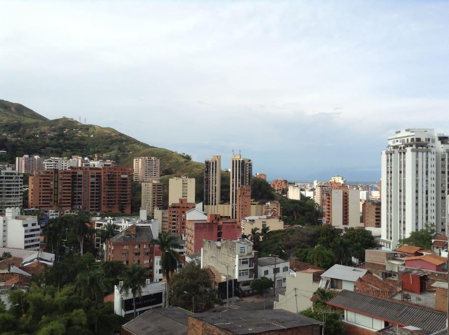 Vista desde la terraza al oeste y norte de cali