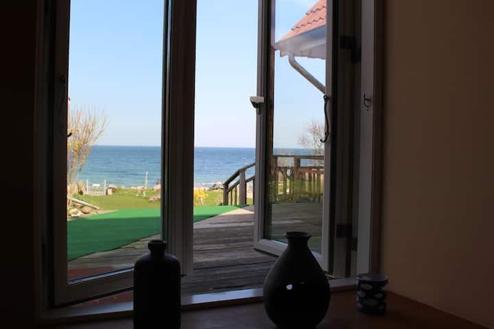 Strandferienwohnung Hühnergott mit Meerblick