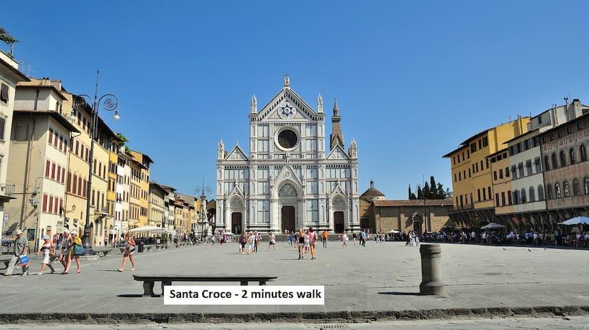 Santa Croce - 2 minutes walk