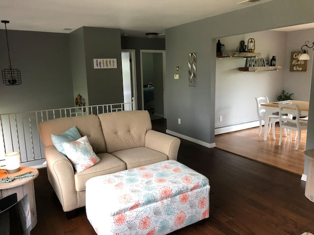 Stylish home with finished basement and bar!