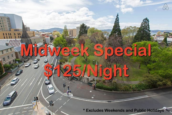 CBD Apartment. Walk into Salamanca and MONA Ferry - Hobart - Lejlighed