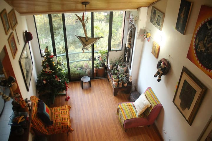 Quiet artist home, great views, in great location - Bogotá  - 公寓