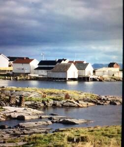 Sjarmerende hus ved havet med hage og terrasse - Veiholmen