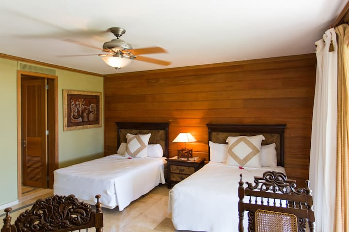 One more spacious and airy bedroom with separated beds & fresh linens for your sweet dreams