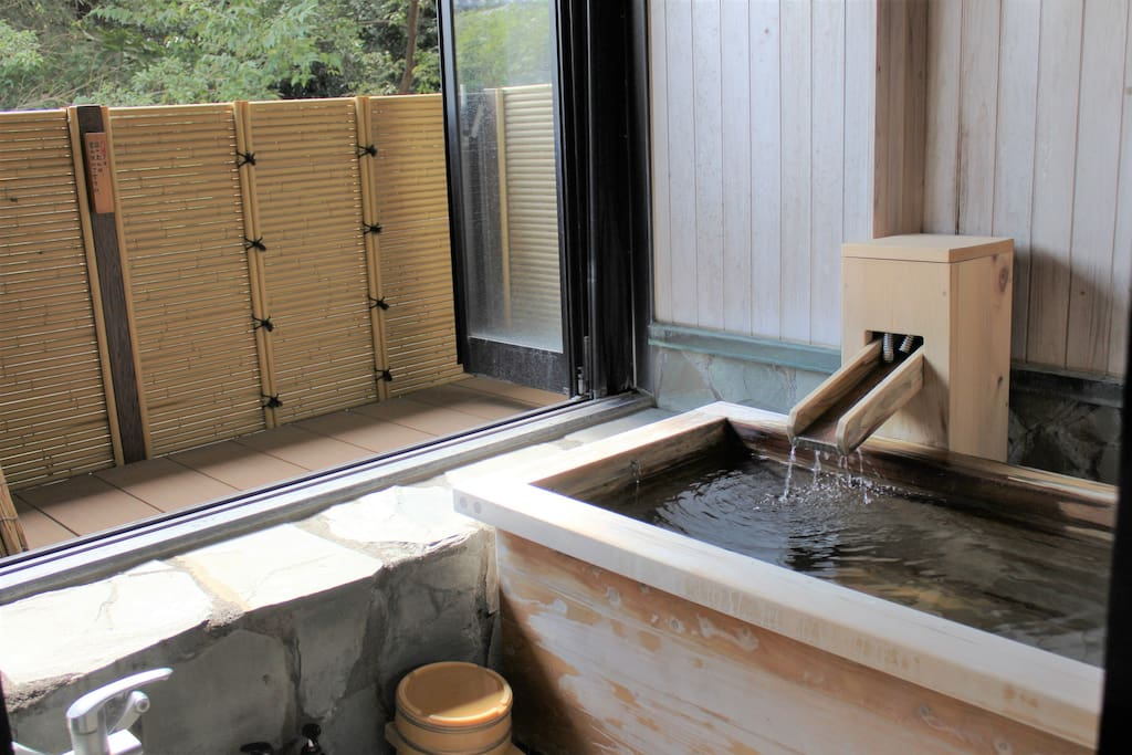 Each room has a private onsen!