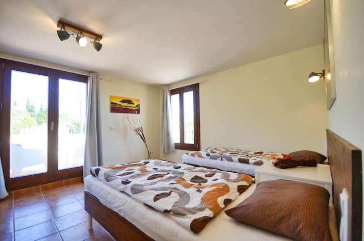 Private room with floor heating and A/C - Rústico