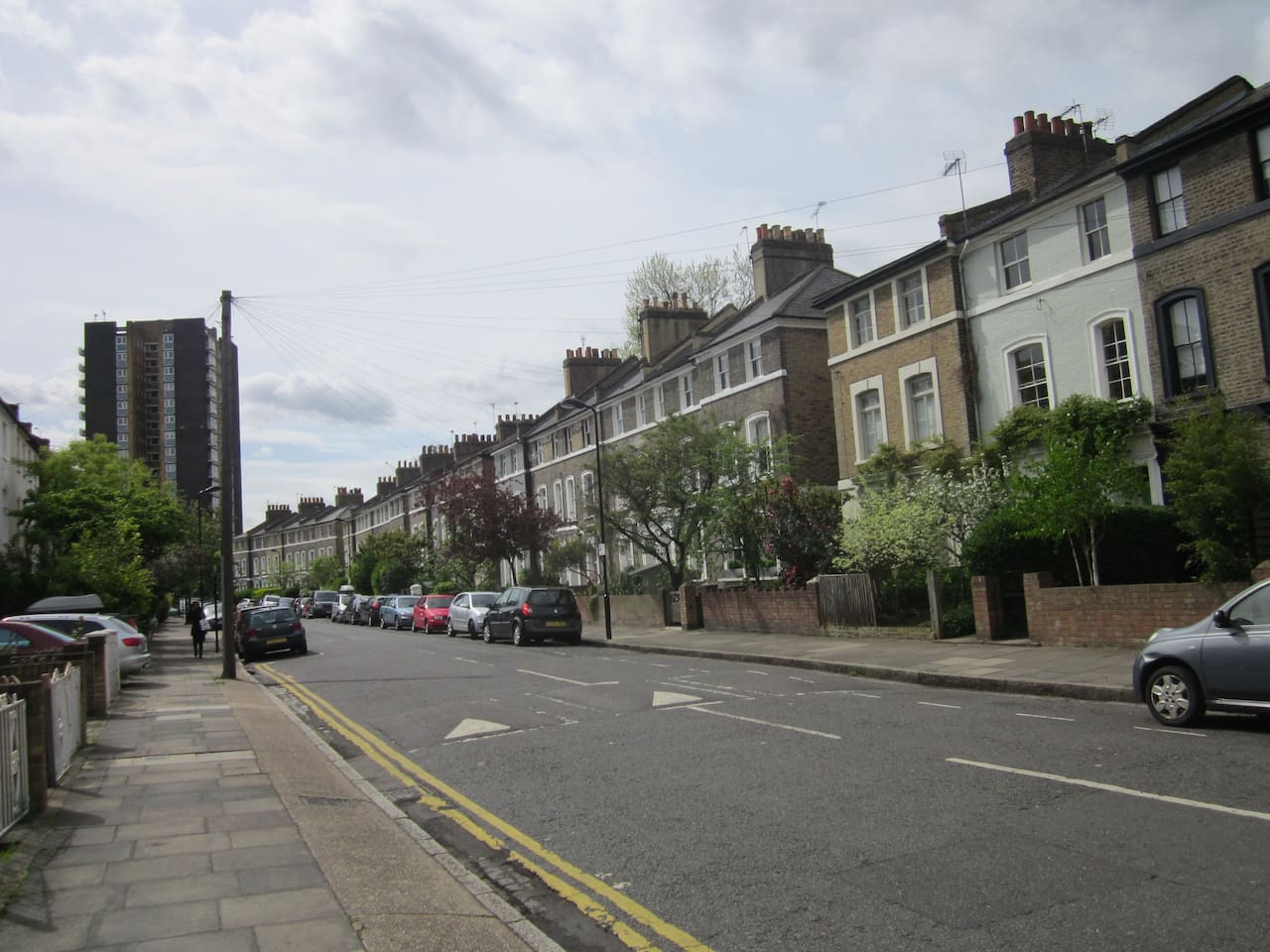 photo of street from the front garden