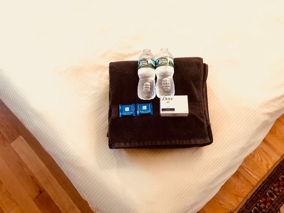 A nice simple welcome package for my guests.