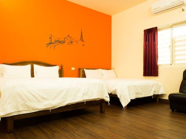 自在2大床 高級床間四人房-帶私人衛浴