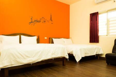 自在2大床 高級床間四人房-帶私人衛浴 - Ruisui Township