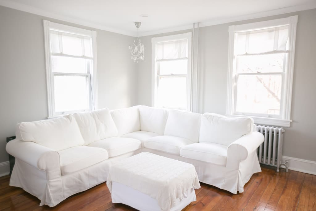 Comfy sectional for cozy evenings.