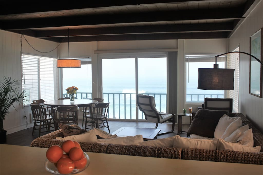 Cook dinner while enjoying the view of the ocean