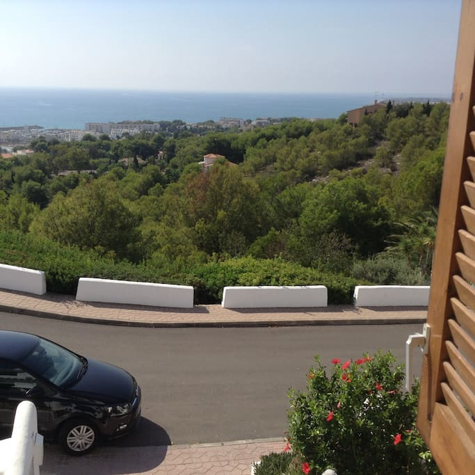 View from the master bedroom to the sea