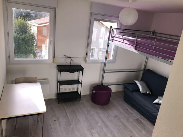 Studio + place de parking privée Grenoble centre