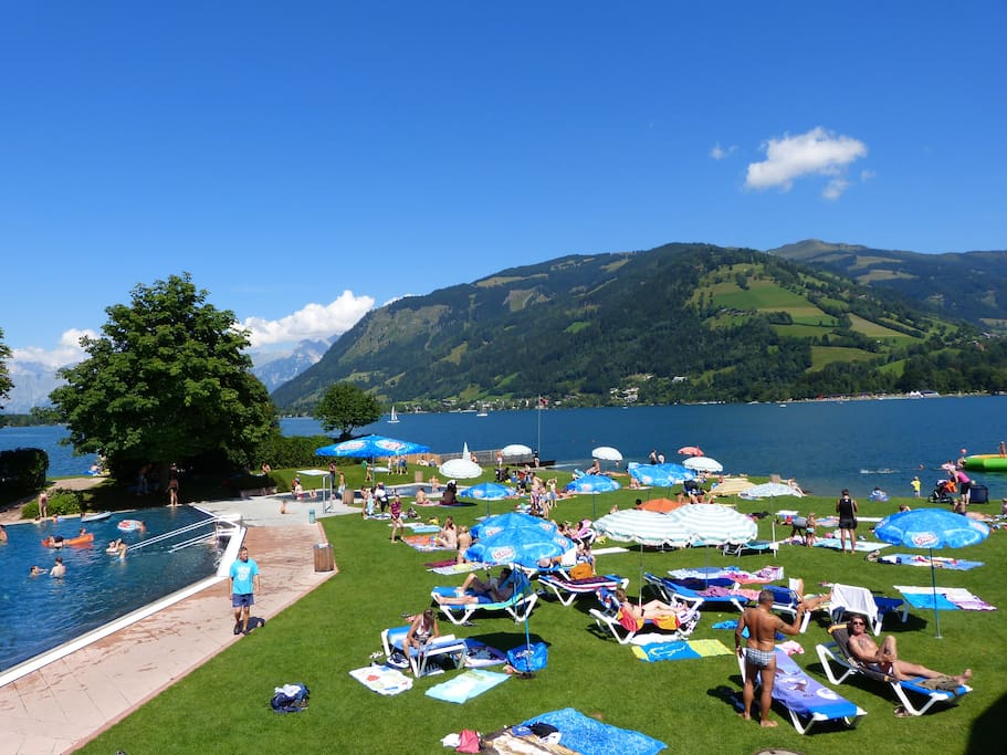 Zell am See has great beach and pool facilities