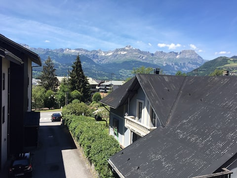 Modern design studio at the foot of Mont Blanc