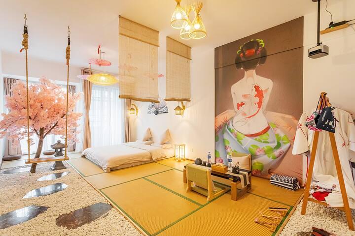 【云朵璞舍】奈良小屋 #每日消毒 #   特惠 地铁口 空调 日式唯美和服美拍 同德广场旁