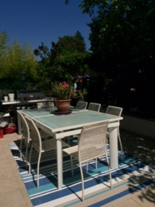 Terrasse with BBQ ( grill & plancha)