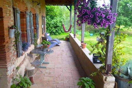Chambres d'hôtes à la campagne toulousaine - Pelleport - Huis