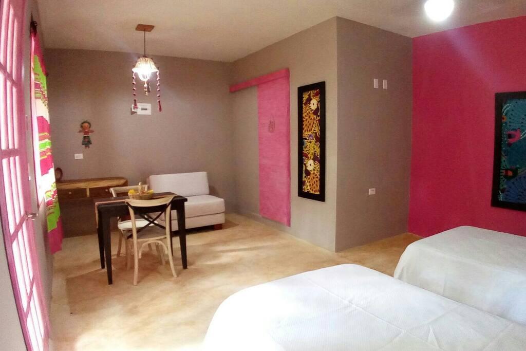 La decoración los colores y la tranquilidad, para que se sientan como en casa