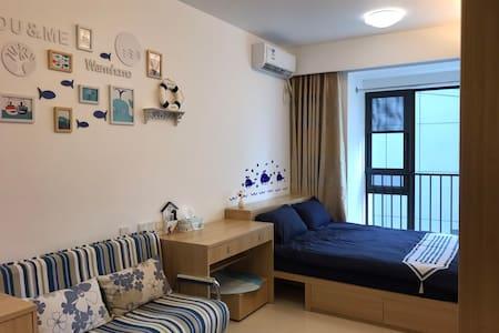旗峰路地铁站200米直达万科中心蓝色港湾清新整套公寓