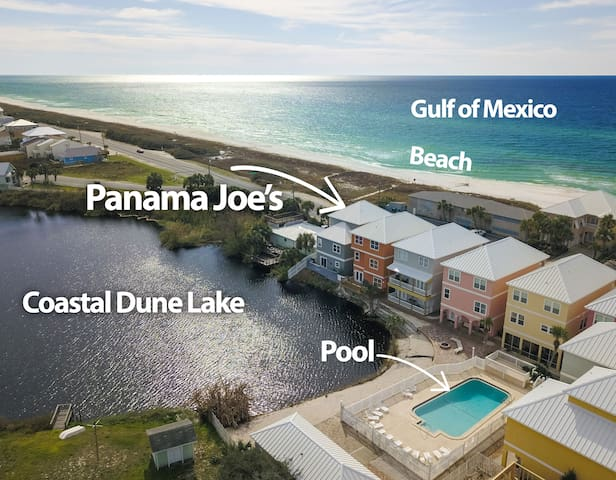 STEPS TO BEACH! Ocean views+Beach House+Pool+Lake