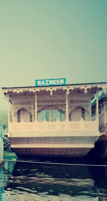 front of Nazneen Houseboat