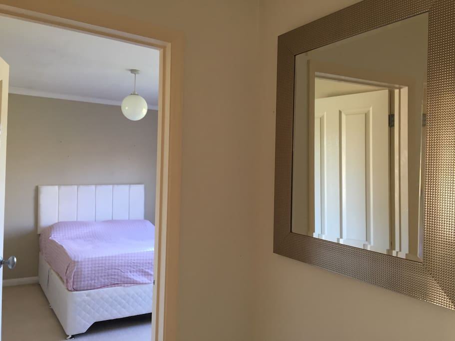 Hallway leading to guest bed
