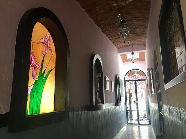 Guesthouse entrance hallway