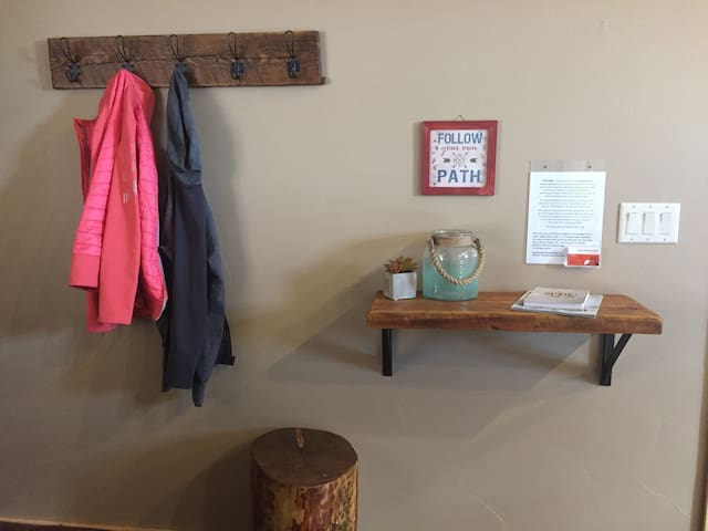 Hang up your coat and stay a while! Please sign our guest book and share your experience at the cabin!