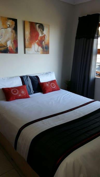 Bedroom with queen double bed