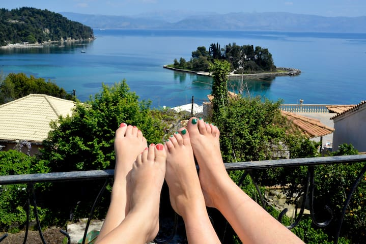 CORFU STORY-BREATHTAKING VIEW HOUSES ! PART I