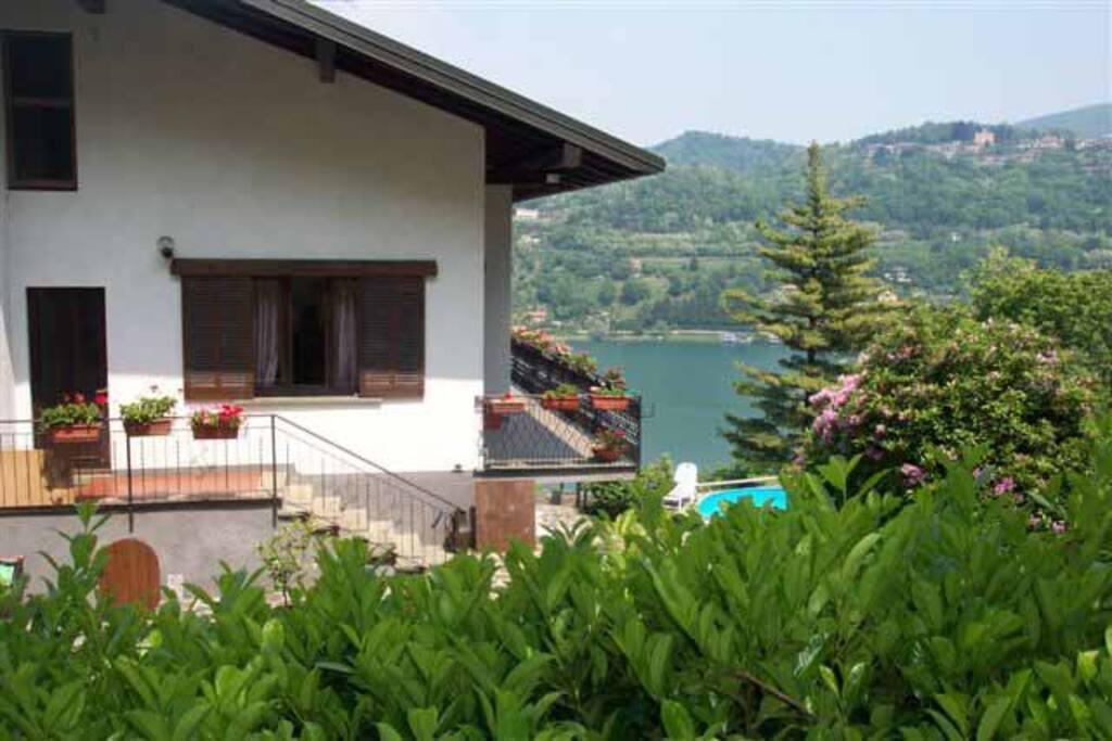 Villa with lake views.