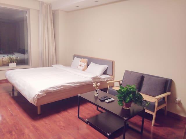 天坛安门北京站北京体育馆地铁5号线高档温馨大床房