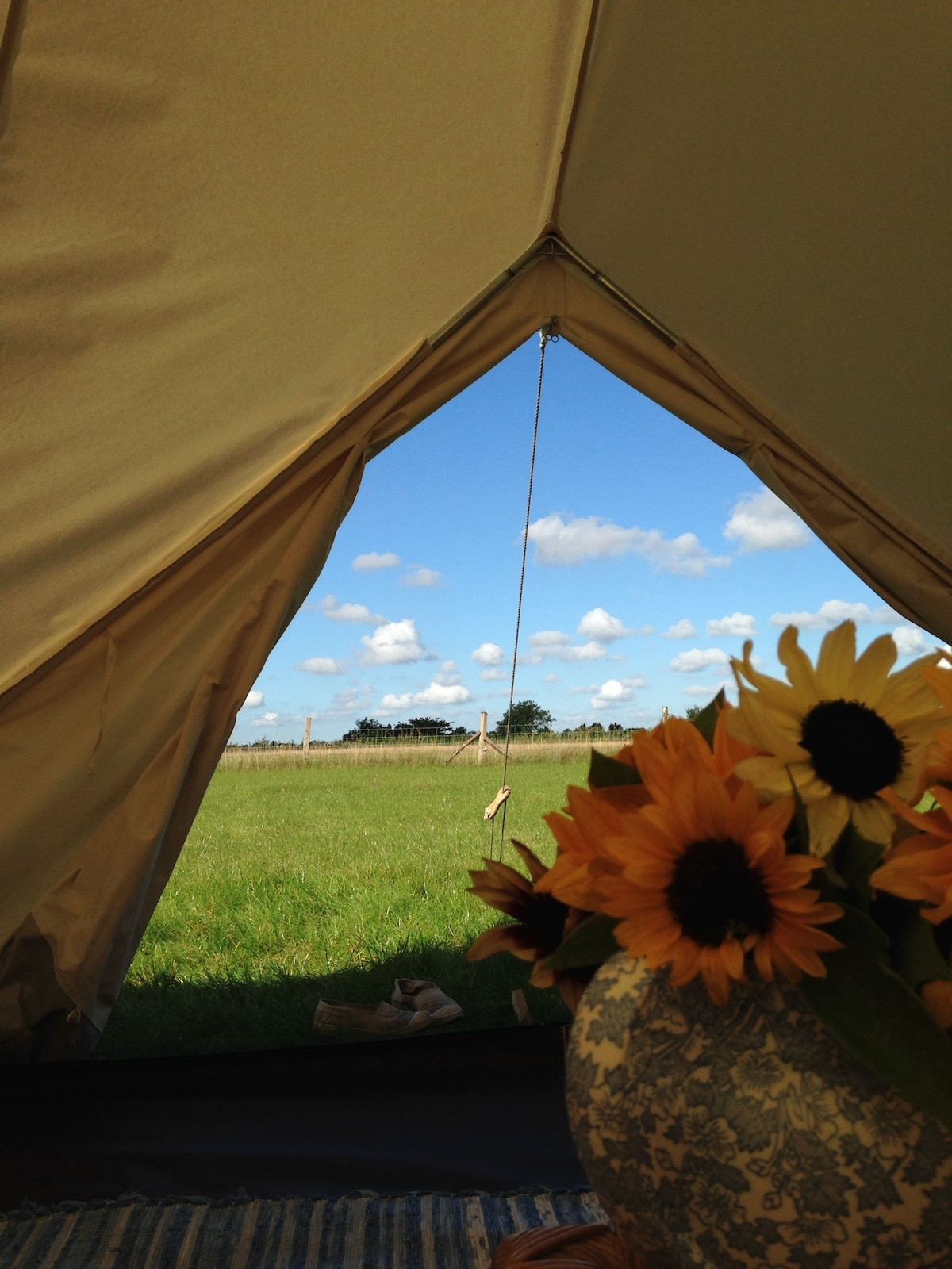 Fasbourn Gl&ing Suffolk - Oak Bell Tent - Tents for Rent in Buxhall England United Kingdom & Fasbourn Glamping Suffolk - Oak Bell Tent - Tents for Rent in ...
