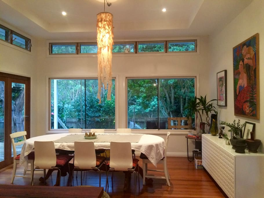 View from the open plan kitchen