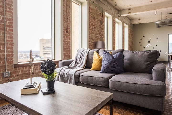 Modern Industrial | Historic 1BR @ Prime Location