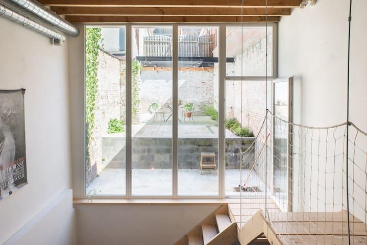 A huge window for light
