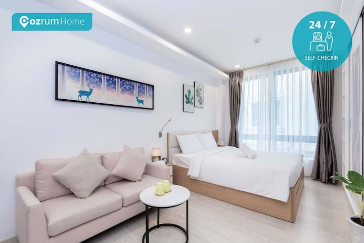 Cozrum Homes ✯ 1BR Airy Studio w Full Furnished