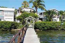 View of the Inn from our dock on Sarasota Bay
