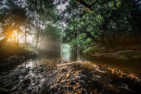 Kabin Terendam di Tepi Sungai - Pinggir Siak(3 -6pax)
