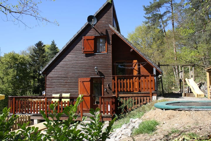 Pretty Chalet in Beaulieu France With Private Swimming Pool