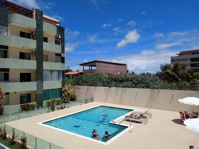PraiaMilionários 1/4 beiramar piscina arcond garag