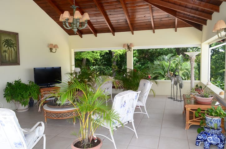 Garden suite apartment at Cassava House