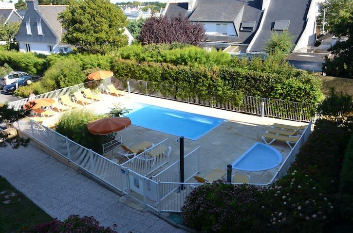 (207) studio avec piscine + parking proche plage