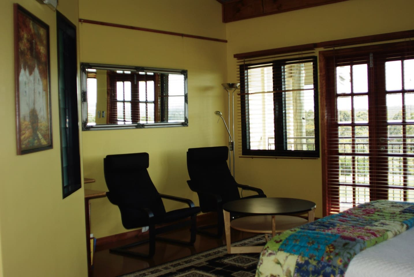 Each room is spacious, well appointed and has it's own sitting area and deck.