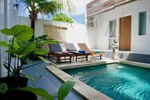 Private ensuite, Ubud area, breakfast, 2 pools