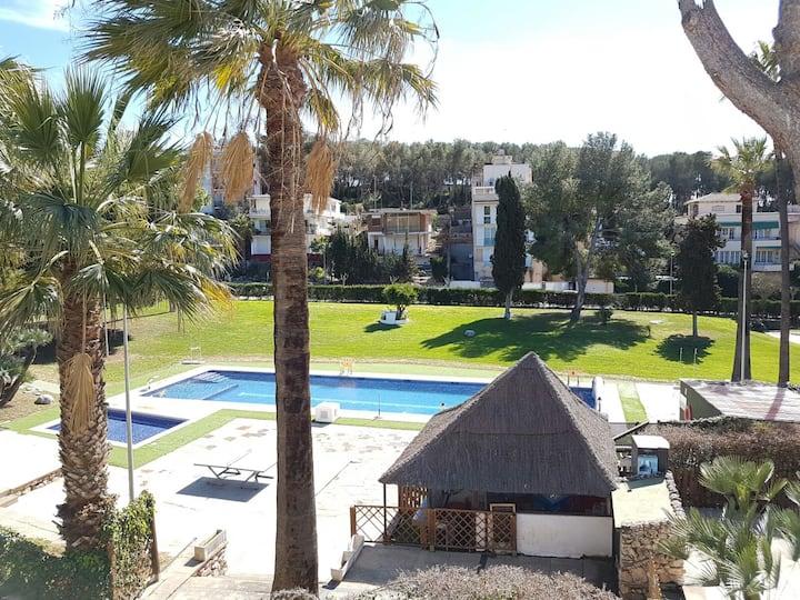 Acogedor  apartamento con a/c en Sitges