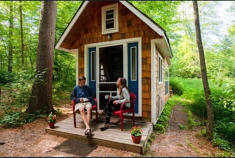 Old Blue tiny house at the Wooded Retreat